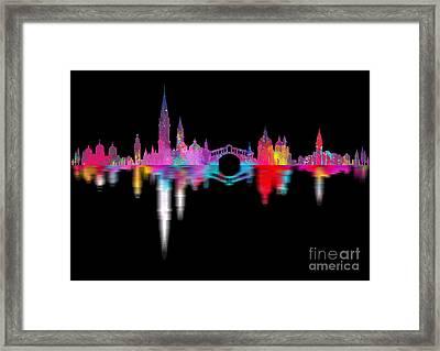 Venice Skyline  Italy Night Framed Print by Prar Kulasekara