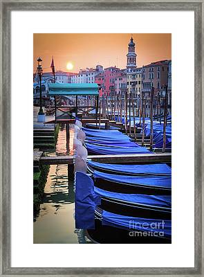 Venice Sunrise Framed Print by Inge Johnsson