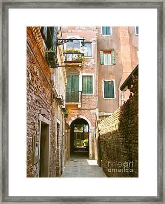 Venice- Venezia-calle Veneziana Framed Print by Italian Art