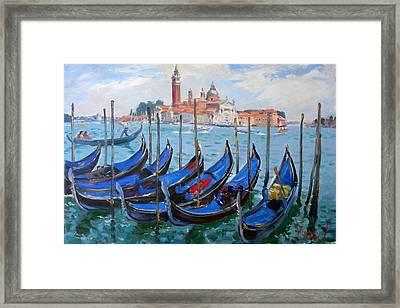 Venice View Of San Giorgio Maggiore Framed Print by Ylli Haruni
