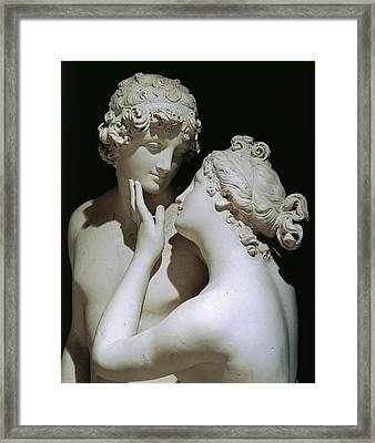 Venus And Adonis Framed Print by Antonio Canova