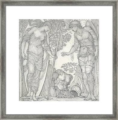 Venus Bringing Armor To Aeneas Framed Print by Sir Edward Coley Burne-Jones