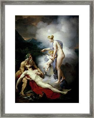 Venus Healing Eneas Framed Print by Merry-Joseph Blondel