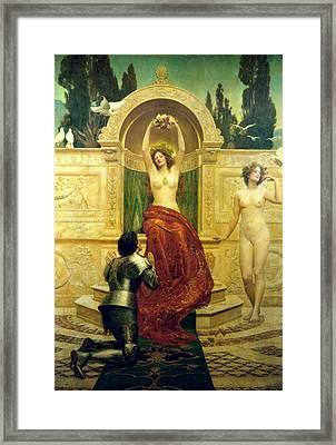 Venusberg Scene From Tannhauser Framed Print by John Collier