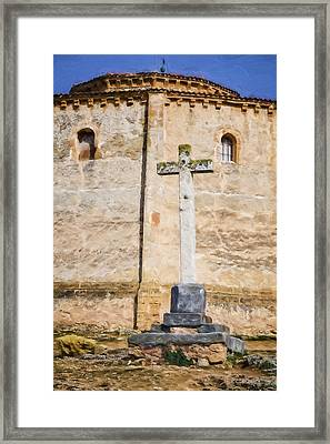 Vera Cruz Cross Framed Print by Joan Carroll
