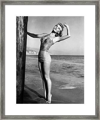 Vera-ellen, Ca. 1940s Framed Print by Everett