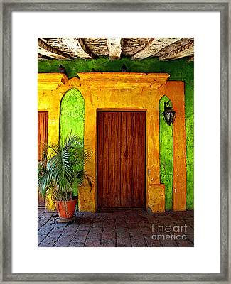 Veranda El Quilete Framed Print by Mexicolors Art Photography