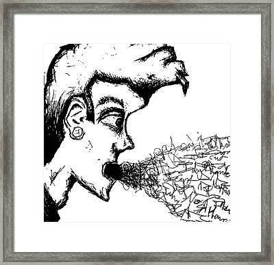 Verbal Vomit Framed Print by Jera Sky