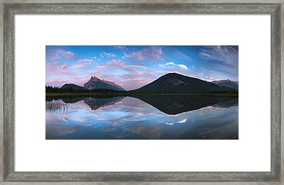 Vermilion Lakes Panorama Framed Print by Cale Best