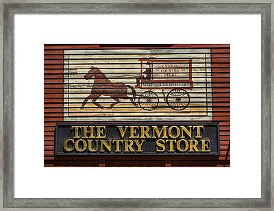 Vermont Country Store Framed Print by Stephen Stookey