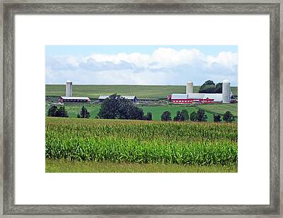 Vermont Farm Country Framed Print by Bill Morgenstern