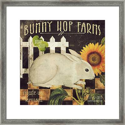 Vermont Farms Bunny Rabbit Framed Print by Mindy Sommers