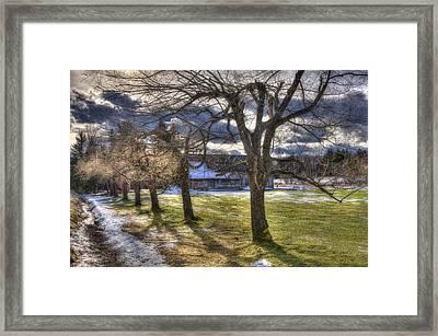 Vermont Winter Barn - Stowe Framed Print by Joann Vitali
