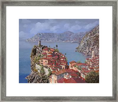 Vernazza-cinque Terre Framed Print by Guido Borelli