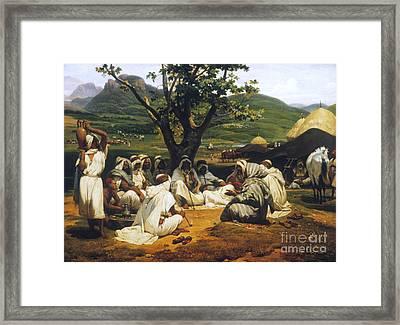 Vernet: Arab Tale-teller Framed Print by Granger