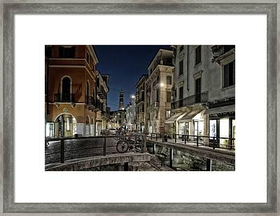 Verona After Midnight Framed Print by Joachim G Pinkawa
