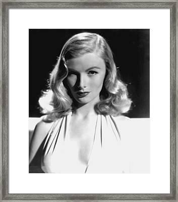 Veronica Lake, Portrait, As Seen Framed Print by Everett