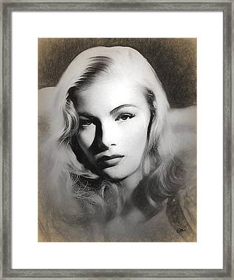 Veronica Lake Sketch Framed Print by Joaquin Abella