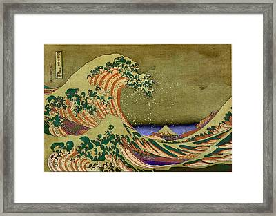 Version Of The Great Wave Off Kanagawa Framed Print by Marianna Mills