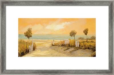 Verso La Spiaggia Framed Print by Guido Borelli