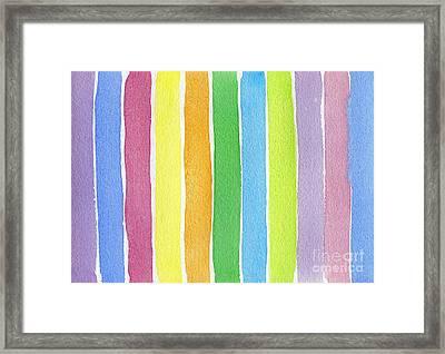 Vertical Rhythm Framed Print by Norma Appleton