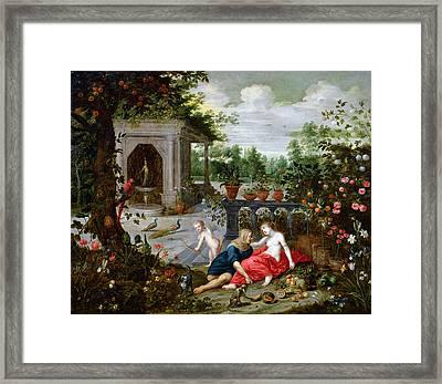 Vertumnus And Pomona Framed Print by Hendrik van the Elder Balen