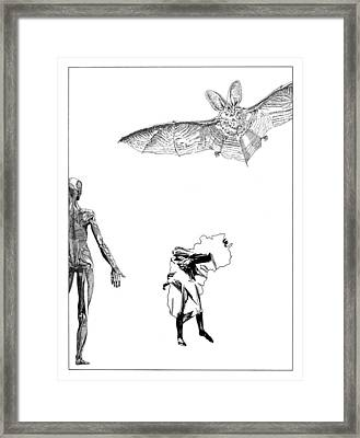 Vesalius Bat Thing Framed Print by Stan  Magnan