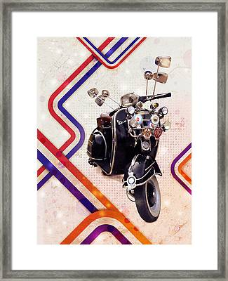 Vespa Mod Scooter Framed Print by Michael Tompsett