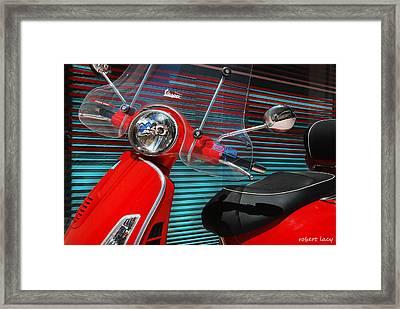 Vespa Framed Print by Robert Lacy