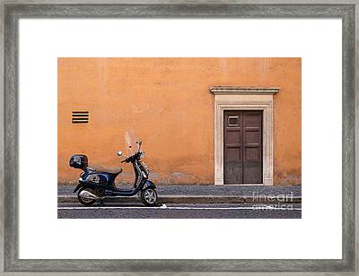 Vespa Roma Framed Print by Richard Thomas