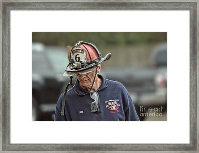 Veteran Fire Fighter Framed Print by Jim Fitzpatrick