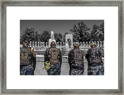 Veterans At The Wwii Memorial Framed Print by Tom Gari Gallery-Three-Photography