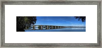 Veterans Memorial Bridge On The Susquehanna River Framed Print by Olivier Le Queinec