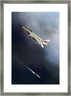 Vf-41 Black Aces Framed Print by Peter Chilelli