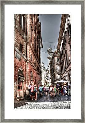 Via Del Pantheon Framed Print by Andrea Barbieri