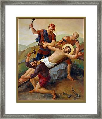 Via Dolorosa - Jesus Is Nailed To The Cross - 11 Framed Print by Svitozar Nenyuk