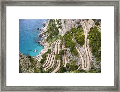 Via Krupp - Capri Framed Print by Joana Kruse