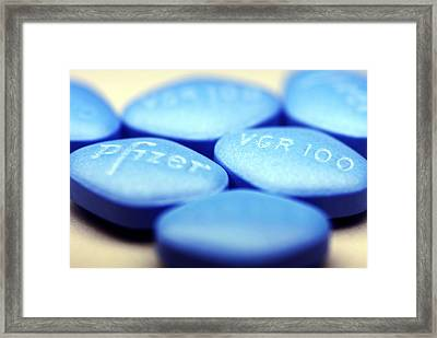 Viagra Pills Framed Print by Pasieka