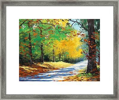 Vibrant Autumn Framed Print by Graham Gercken