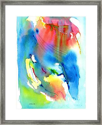 Vibrant Colorful Abstract Watercolor Painting Framed Print by Carlin Blahnik