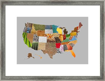 Vibrant Textures Of The United States Framed Print by Design Turnpike