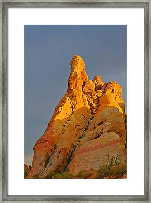 Vibrant Valley Of Fire Framed Print by Christine Till