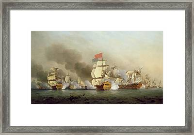Vice Admiral Sir George Anson's Framed Print by Samuel Scott