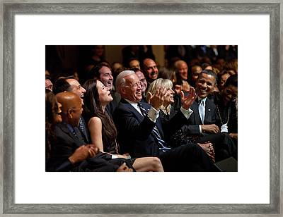 Vice President Joe Biden Flanked Framed Print by Everett