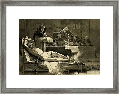 Victim Of The Spanish Inquisition Framed Print by Everett