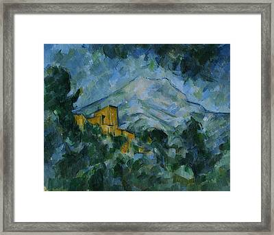 Victoire And Chateau Noir Framed Print by Paul Cezanne