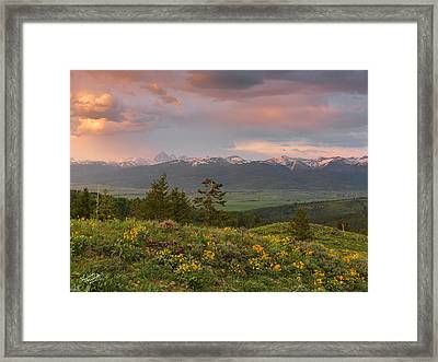Victor Idaho Sunset Framed Print by Leland D Howard