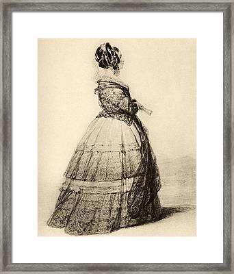 Victoria, Duchess Of Kent And Framed Print by Vintage Design Pics