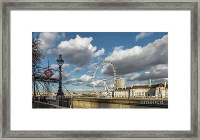 Victoria Embankment Framed Print by Adrian Evans
