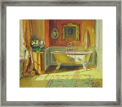 Victorian Bath Framed Print by Jonel Scholtz